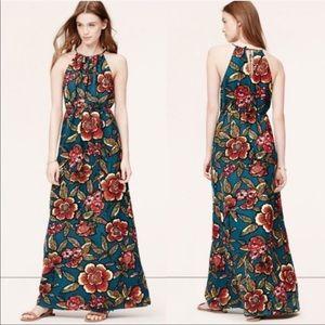 Loft floral linen blend maxi